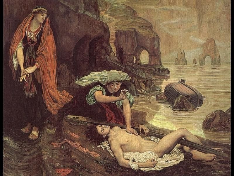 Ford Madox Brown Don Juan Discovered by Haydee